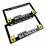 Par (2) Portaplacas Renault Clio Duster Kwid Kangoo Koleos