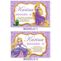 Invitaciones Kit Imprimible Rapunzel Princesas Disney Fiesta
