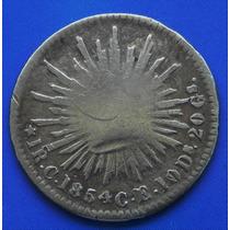 Moneda 1 Real 1854 Culiacan Aguila Sonora Muy Escasa Plata