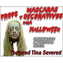 Decorativo Para Halloween De Cabeza De Mujer Decapitada