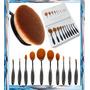 Set 10 Brochas Ovalo, Maquillaje Profesional,calidad,ovales
