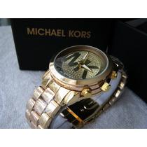 Excelente Reloj Michael Kors Oro Mk Subasta 1 Peso