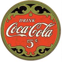 Drink Coca Cola 5c Anuncio Vintage Retro Letrero Cartel Retr