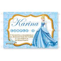 Invitaciones Kit Imprimible Cenicienta Princesas Disney
