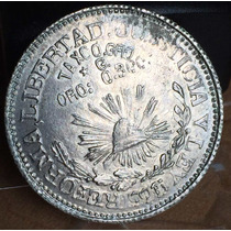 Moneda 1 Peso Taxco Guerrero 1916 Sobre Fecha Plata Escaso