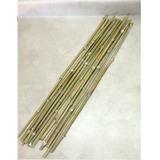 15 Varas De Bambú / Tutores Manualidades Jardinería 150 Cm V