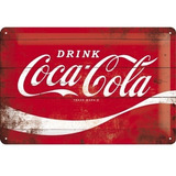 Cartel Nostalgic-art® Coca-cola Logo Rojo