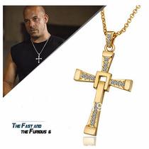 Collar Cruz Oro Toretto Dominic Rapido Y Furioso Acero Inoxi