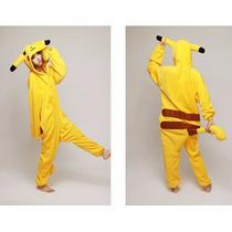 Pijama Pikachu Kigurumi, Cosplay, Mameluco Adulto. Onesie.