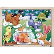Melissa & Doug Juguetones Animales Jigsaw (12 Pc)