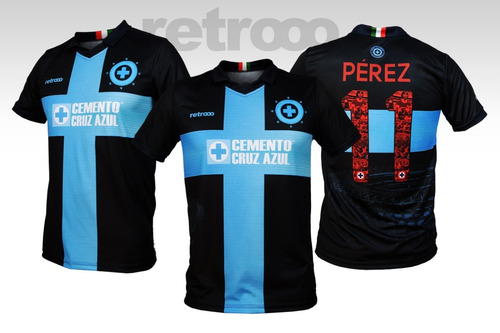 8dfe4f54dc53c Jersey Negro Cruz Azul Estadio Azteca Ft. Retrooo Fantasy.   799