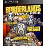 Ps3 - Borderlands Triple Pack - Nuevo Y Sellado - Ag