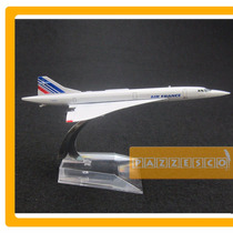 Avion Concorde Air France 1:400 Metal Con Base Cromo