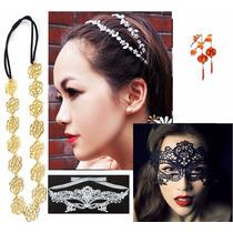 Moda Japonesa Diadema Broche Boda Cabello Corona Disfraz Sex