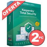 Antivirus Kaspersky Total Security 2pc Original Envio Gratis