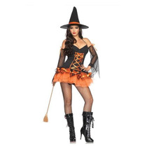 Disfraz Bruja Brujita Sexy Halloween Lenceria Medias Y Envio