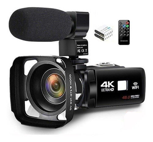 Videocámara Digital 4k Con Wifi, Pantalla Táctil