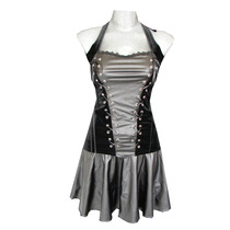 Vestido Corto Vinipiel Corset Gotico Eretica Dark Cybergoth