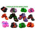 Sandalias De Eva Combinadas Colores Y Adornadas $65