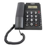 Teléfono Fijo Misik Mt862 Negro
