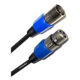 Cable Audiobahn Para Microfono Plug Cannon A Jack Cannon 10m