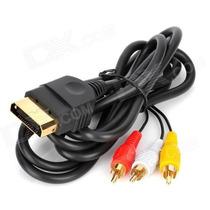 Cable Audio Y Video Av Rca Xbox Negro Clasico