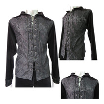 Camisa Eretica Ropa Dark,terciopelo Forro Negro,gotica,metal