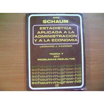 Libro Estadistica Aplicada A La Administracion Y La Economia