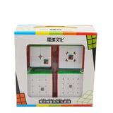 Paquete 4 Cubos Rubik Moyu 2x2 , 3x3 , 4x4 , 5x5 + Regalos