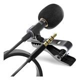 Mini Micrófono Condensador Lavalier Solapa Adecuado Youtuber