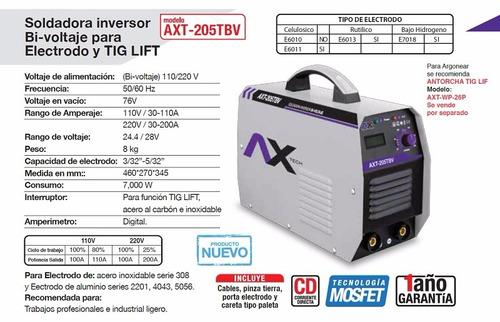 ac419dad43 Soldadora Inversora Ax Tech 200 Amp Bi-voltaje Envío Gratis -   5899 ...