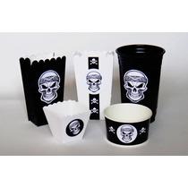 Piratas Dulceros Mesa Dulces Bolsitas Vasos Noche De Brujas