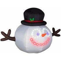 Inflable Navidad Animado Con Musica Y Luces Mono De Nieve