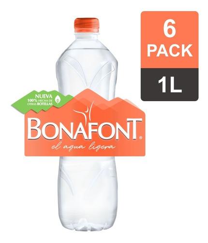 Bonafont, Agua Natural, 1l, 6 Pack