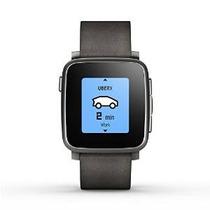 Pebble Tiempo Acero Smartwatch Para Apple / Dispositivos And