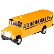 Toysmith Pull-back Del Autobús Escolar 5 Amarillo Brillante