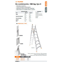Escalera De Combinacion De 15 Peldanios