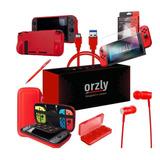 Kit Nintendo Switch Funda Mica Usb-c Anti Golpes Orzly