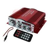 Amplificador Auto 4 Canales Bluetooth Usb Sd Fm Auxiliar