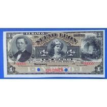 Billete Banco De Nuevo Leon $1.00 Peso 18xx Specimen