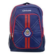 Mochila Juvenil Escolar Futbol Soccer Chivas 7815-2