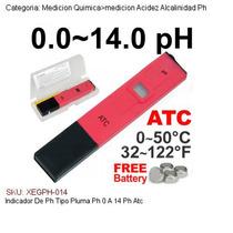 Indicador De Ph Tipo Pluma Ph 0 A 14 Ph Atc