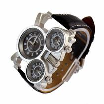 Reloj Oulm Luxury Sport Military Quartz Dial Clock Men
