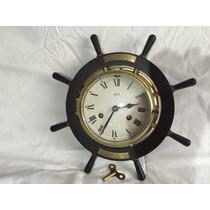 Hermoso Reloj Alemán Schatz Timón Barco Marinero Vintage