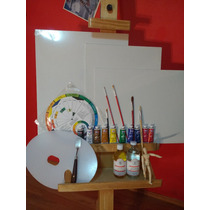 El Mas Completo Kit 25pz Oleo Arte Pintura, Caballete Pincel