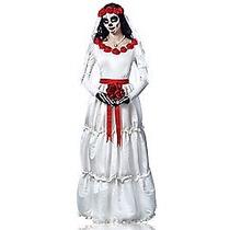 Disfraz Catrina Mujer Novia Calavera Halloween Dia Muertos