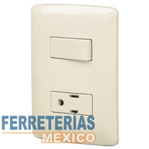 Placa Con 1 Contacto Y 1 Interruptor Sencillo Voltech 48666