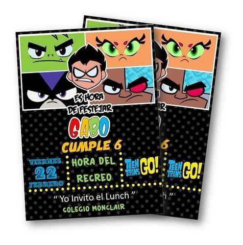 Invitacion Imprimible Jovenes Titanes Teen Titans Go En