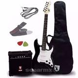 Paquete Kit Guitarra Electrica Amplificador Todo Incluido