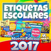 Etiquetas Escolares Kit 2017 Ahora Con 7 Mil Imagenes +5 Gb